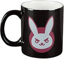 Кружка JINX Overwatch - D. VA Ceramic Mug 325 ml Black/Pink