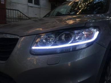 Гнучкі трубчасті ходові вогні DRL фари авто LED, 2шт 45см білі