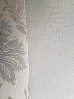 Текстильні шпалери на флізелін Da capo RaschTextil 085586 однотонні структурні смужка бежева з сріблом, фото 1