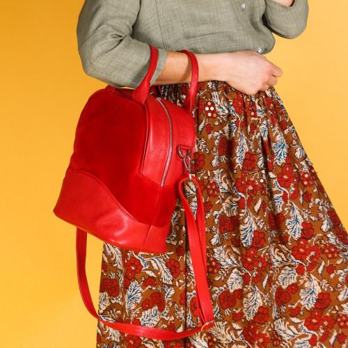 Женская сумка красная, натуральная  кожа и замша. Пошив в любом цвете под заказ.