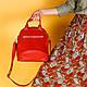 Женская сумка красная, натуральная  кожа и замша. Пошив в любом цвете под заказ., фото 3