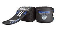 Локтевые бинты Power System Elbow Wraps, хлопок, р-р 150х8см, черный  (PS-3600_Blue-Black)