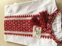 Сорочка біла вишита хрестиком та мережкою 9-10 років (ручна робота)сорочкове полотно