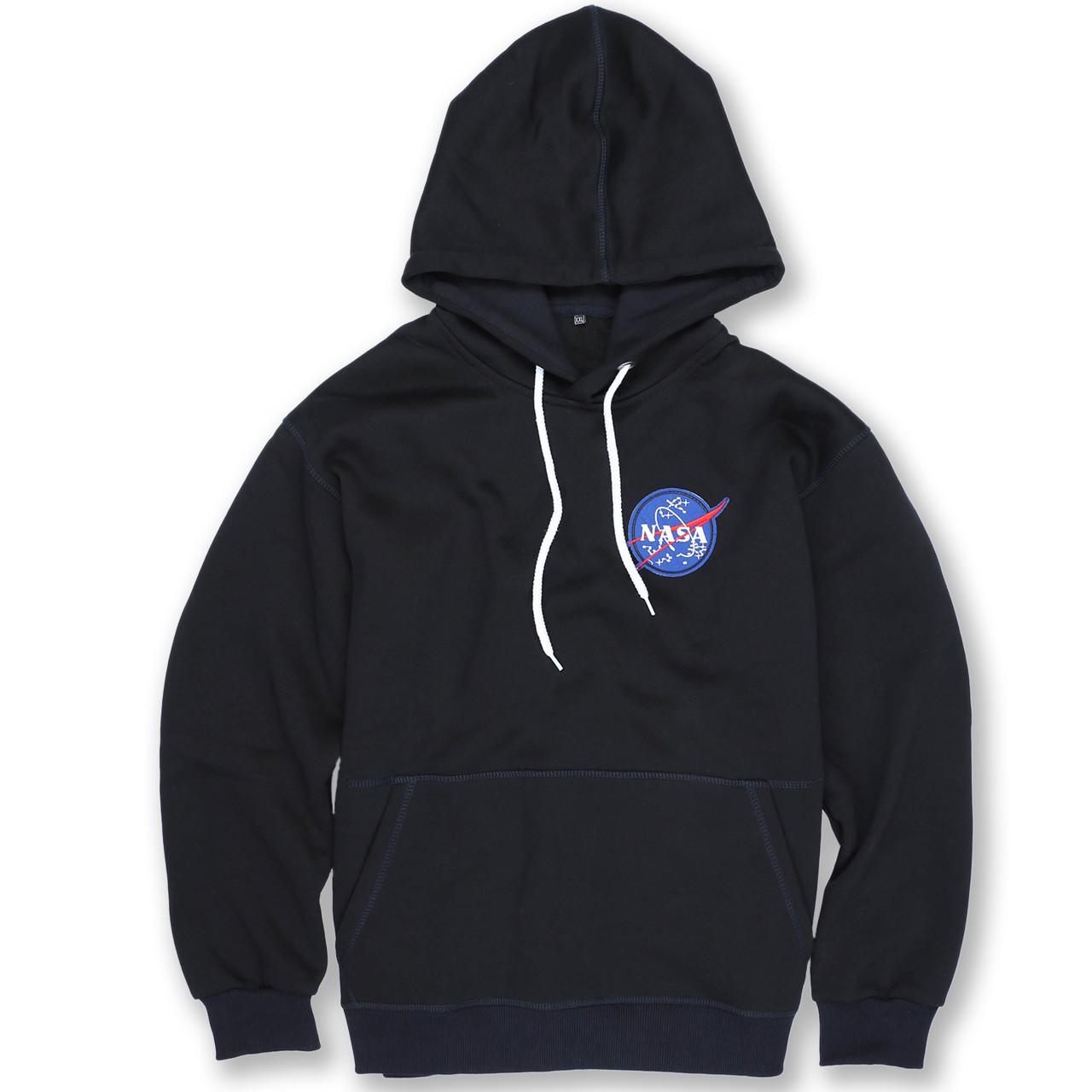 Худи осень-зима т синий NASA с патчем Т-2 DBLU XXL(Р) 20-586-203