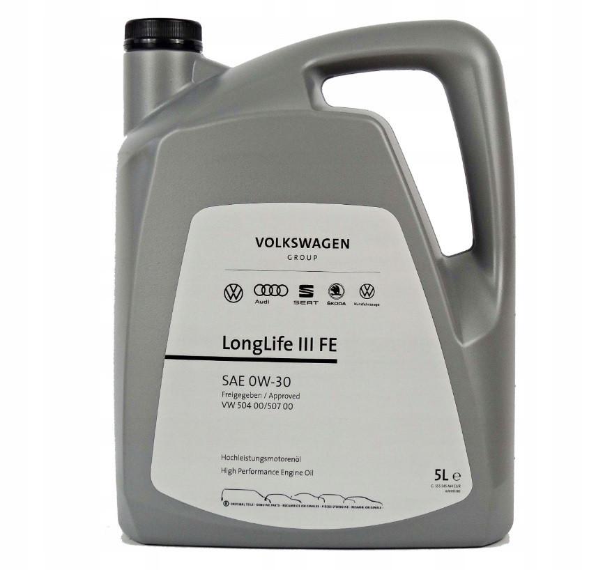 Оригинальное моторное масло VAG LongLife III 0W-30 5л (GS55545M4)