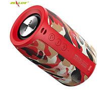 Беспроводная стерео Bluetooth колонка Zealot S32 (Red comuflage) радио 5 Вт 2000 мАч