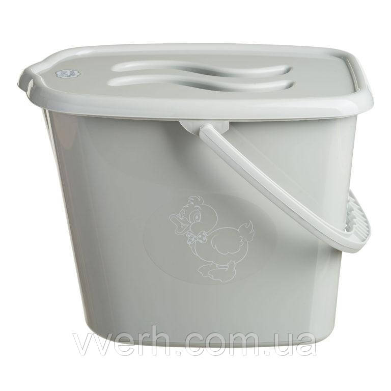 Ведерко для подгузников и воды Maltex Duck 1346  grey