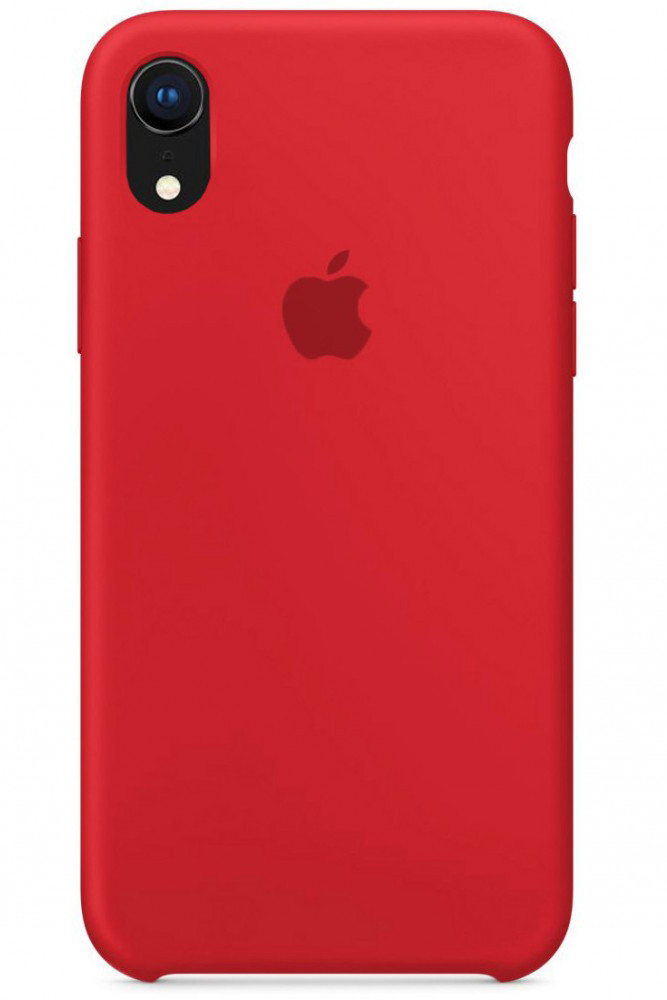 Задняя накладка Hi-Copy Silicone Case APPLE IPHONE XR (№14 RED)