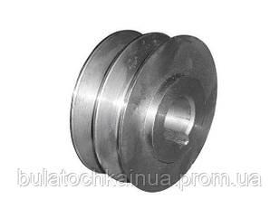 Шкив двухручьевой (наружный диаметр 76 мм, внутренний 20мм, профиль В)