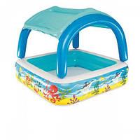 Надувной бассейн Bestway 52192 с навесом, 140х140х114 см