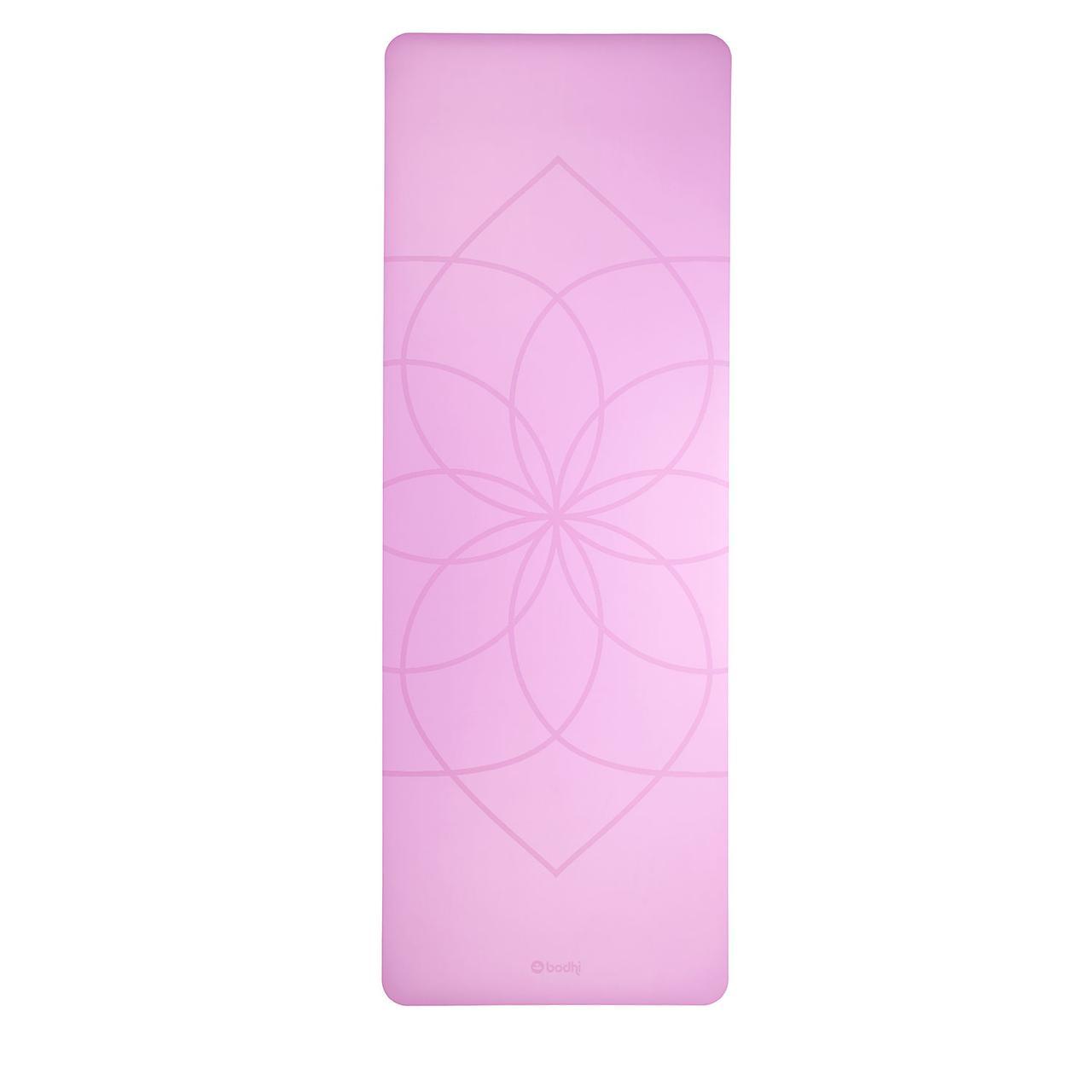 Коврик для йоги FHOENIX with living flover (Феникс Живой цветок), розовый