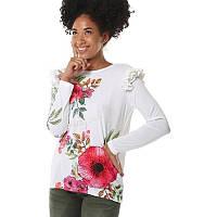 Женская блуза белая с принтомDesigual, фото 1