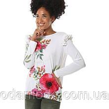 Жіноча блуза біла з принтом Desigual