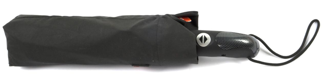 Мужской прочный зонт автомат классический черный цвет  с прямой ручкой Belissimo art. 601 черный