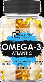 Рыбий жир Powerful Progress Atlantic Omega-3 100caps