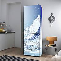 """Виниловая наклейка на холодильник """"Синий апельсин""""., фото 1"""