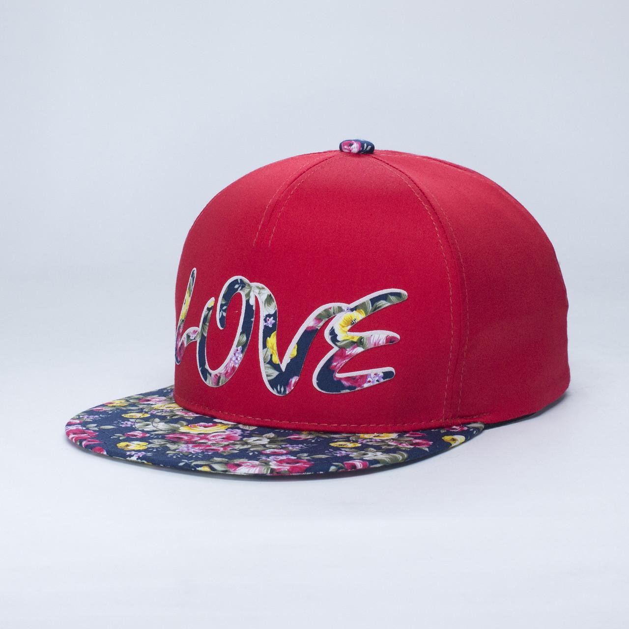 Детская кепка бейсболка для девочки 3-16 лет INAL love XS / 51-52 RU Красный 48051