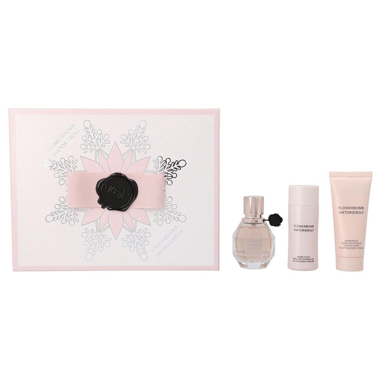 Женский подарочный набор VIKTOR & ROLF Flowerbomb парфюмированная вода 30ml +крем 40ml + гель 50ml ОРИГИНАЛ