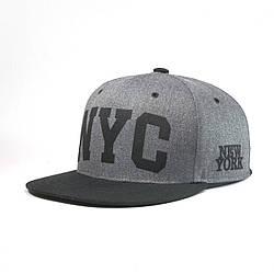 Кепка бейсболка мужская INAL ny new york M / 55-56 RU Серый 108655