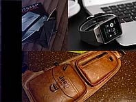 Мужской набор № 10 (Smart Watch DZ 09+Кожаная мужская сумка Jeep BULUO+...)