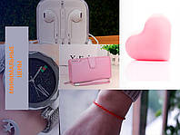 Женский набор № 3 (Женский клатч Baellerry business+Наушники Apple EarPods+Часы Swayse Whatch+...)