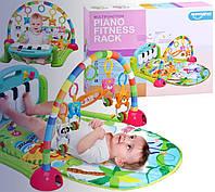 Детский развивающий коврик зелёный PIANO FITNESS RACKНЕ, фото 1