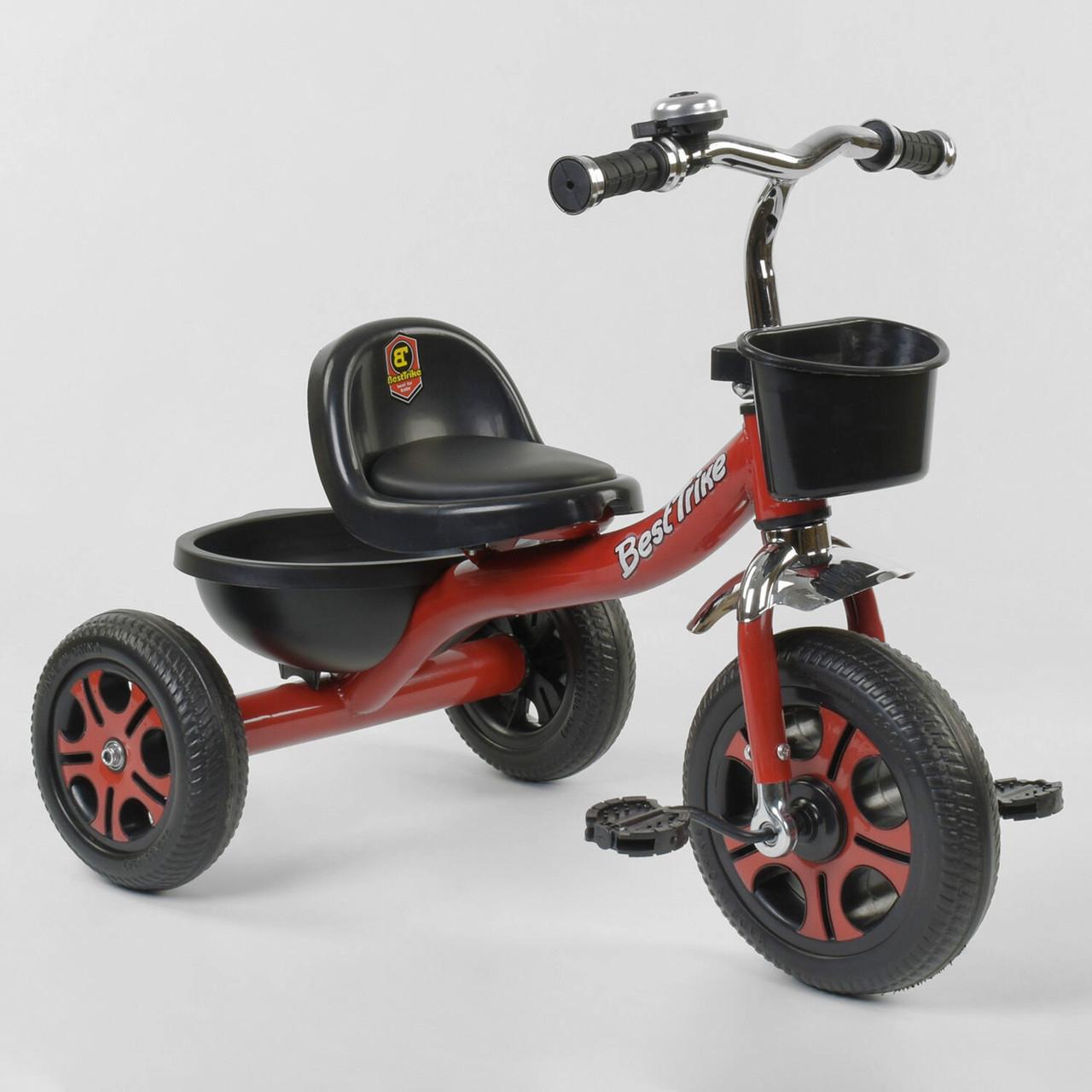 """Велосипед детский трехколесный с звонком и двумя корзинами """"Best Trike"""" LM-3577 Красный (колеса пена)"""