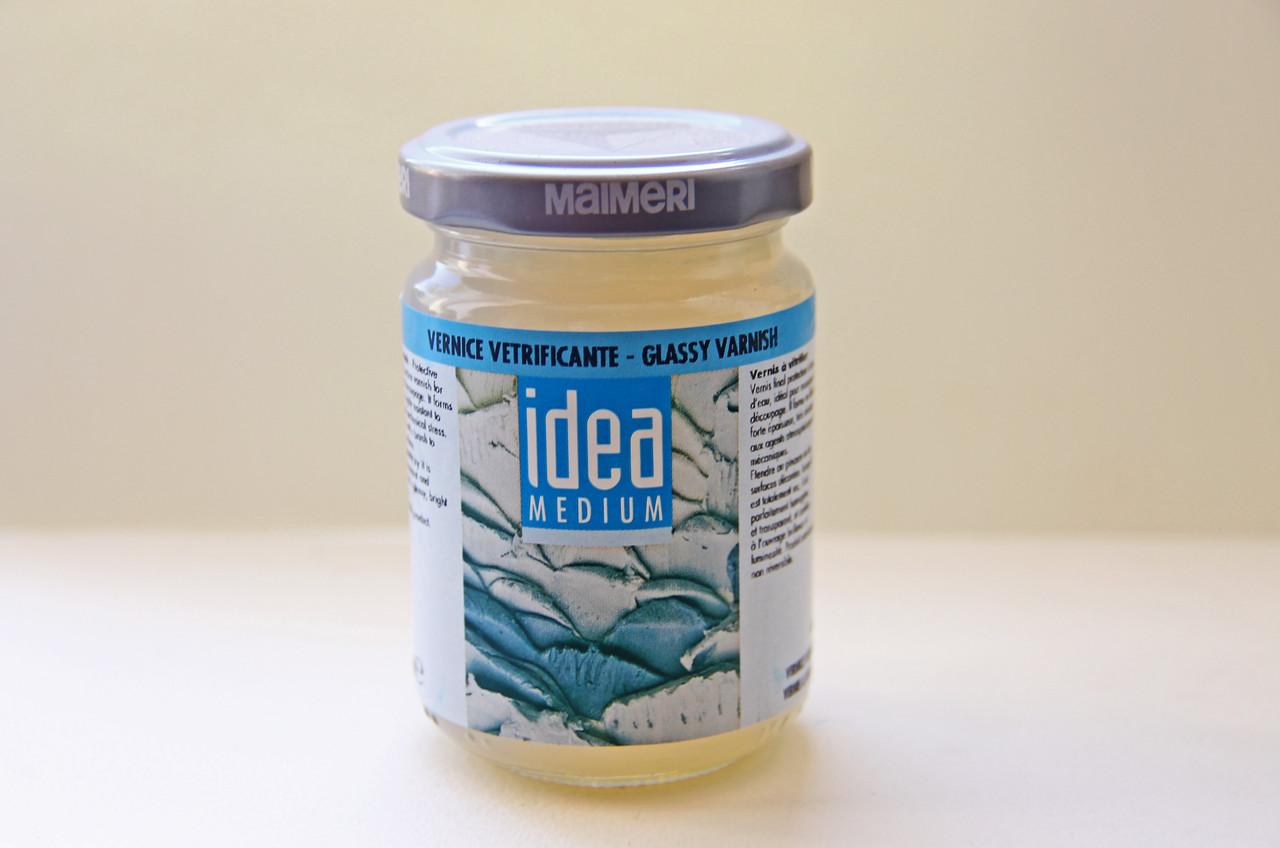 Лак Идея Idea Maimeri (Италия) стекловидный),125 мл. Для декупажа, эпоксидных смол. №746