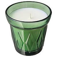 IKEA VÄLDOFT Свеча ароматическая в стекле, Тимьян, 8 см