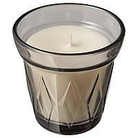IKEA VÄLDOFT Свеча ароматическая в стекле, Соленые конфеты, 8 см