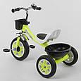 """Велосипед детский трехколесный """"Best Trike"""" LM-3109 Салатовый (пена колеса, 2 корзины, звонок), фото 2"""