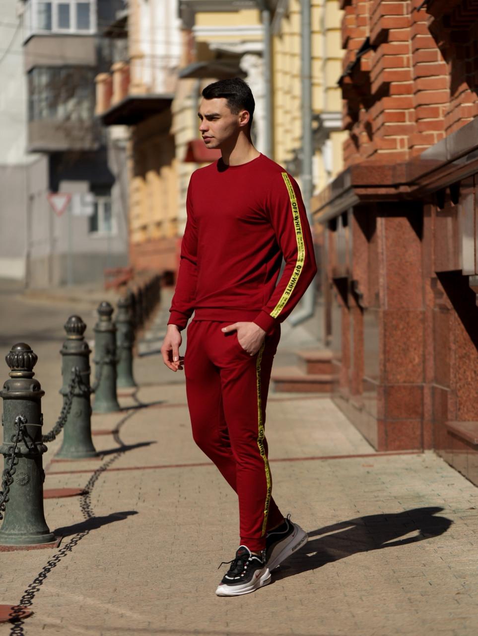 Мужской  спортивный костюм Off White красного цвета лето/осень 2020