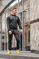 Мужской спортивный костюм с капюшоном, цвет антрацит