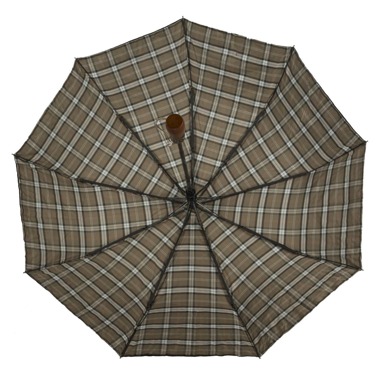 Мужской прочный зонт полуавтомат с двойной плащевкой прямой ручкой Belissimo art. 1003