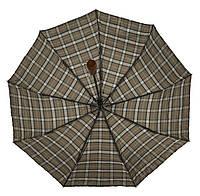 Мужской прочный зонт полуавтомат с двойной плащевкой прямой ручкой Belissimo art. 1003, фото 1