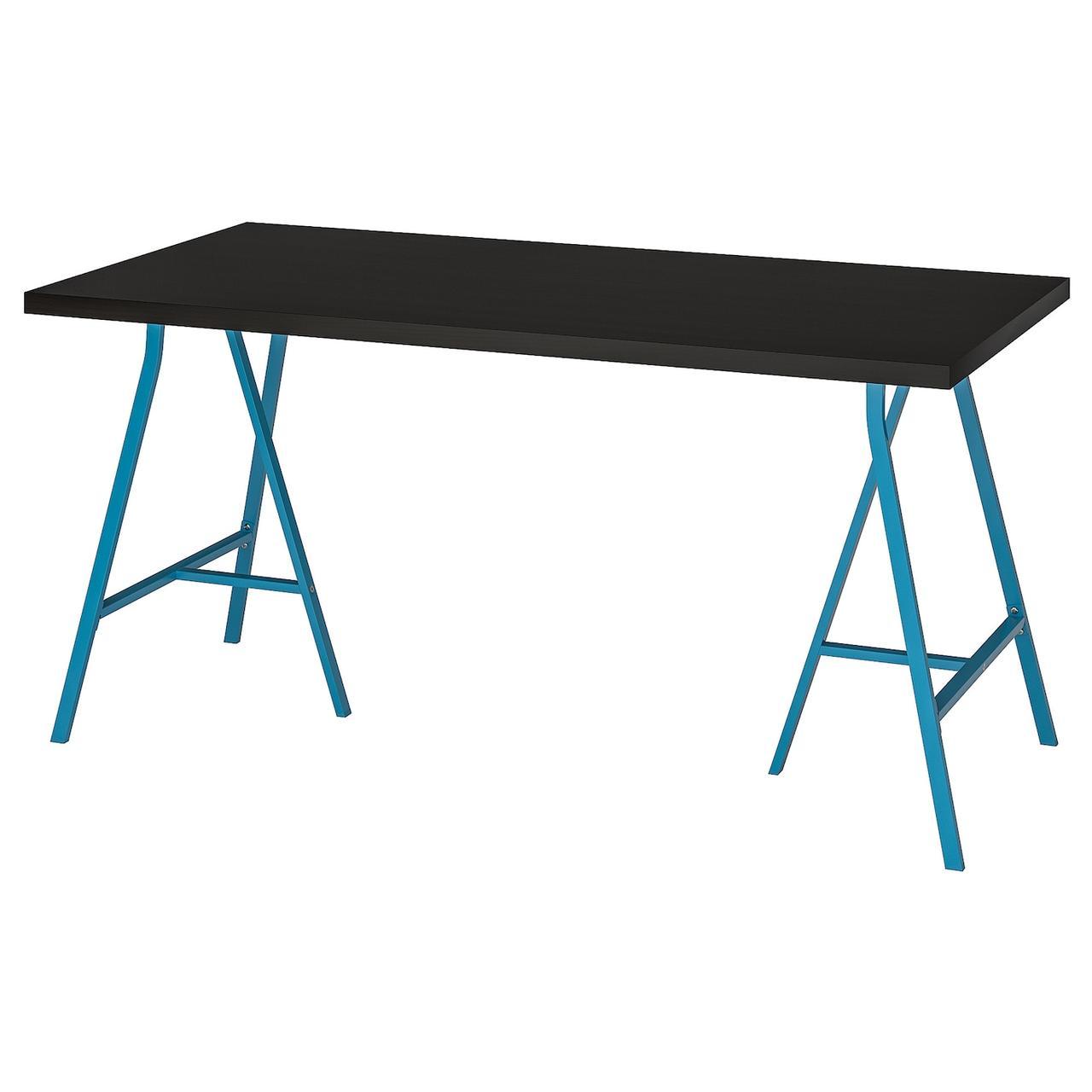 IKEA LINNMON / LERBERG Обеденный стол, czarnybrąz, 150x75 см