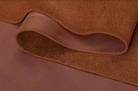 Натуральная кожа Крейзи Хорс рыжая, 1 сорт, галантерейная, обувная