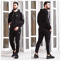 Чоловічий спортивний костюм 748 (46 48 50 52 54 56) (кольори: сірий, темно-сірий, чорний) СП, фото 1