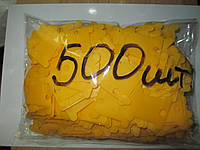 Шпули пластиковые для мулине (500 шт). Цвет - желтый, фото 1