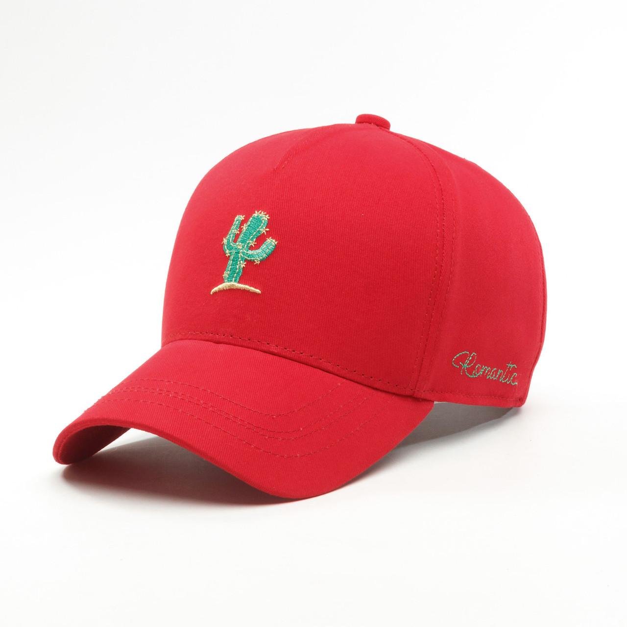 Детская кепка бейсболка для девочки 3-16 лет INAL cactus XS / 51-52 RU Красный 240551