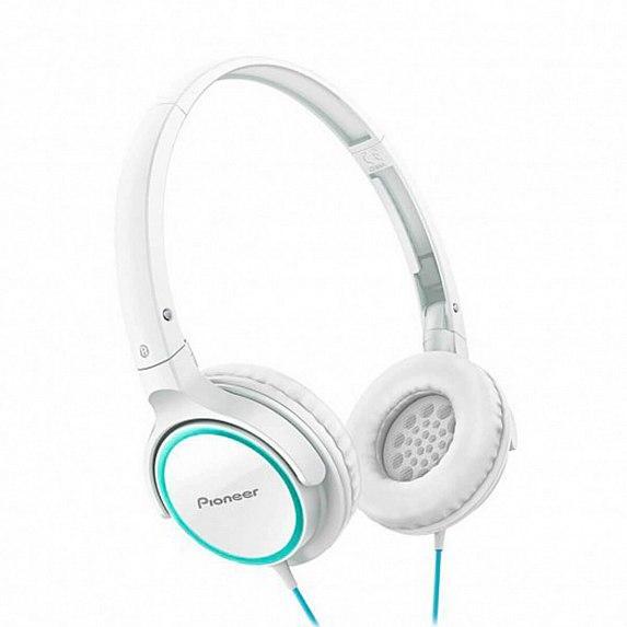 Наушники PIONEER SE-MJ512-GW White/Green (SE-MJ512-GW)