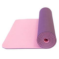 Килимок для йоги LiveUp TPE YOGA MAT
