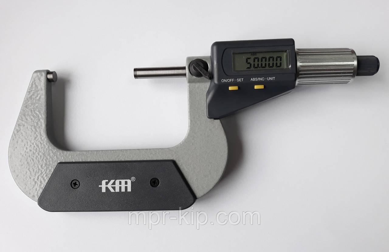 Микрометр цифровой KM-2328-50 / 0.001 (25-50 мм) ±0.003 мм