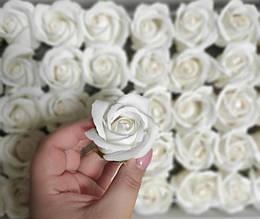 Роза из мыла белая