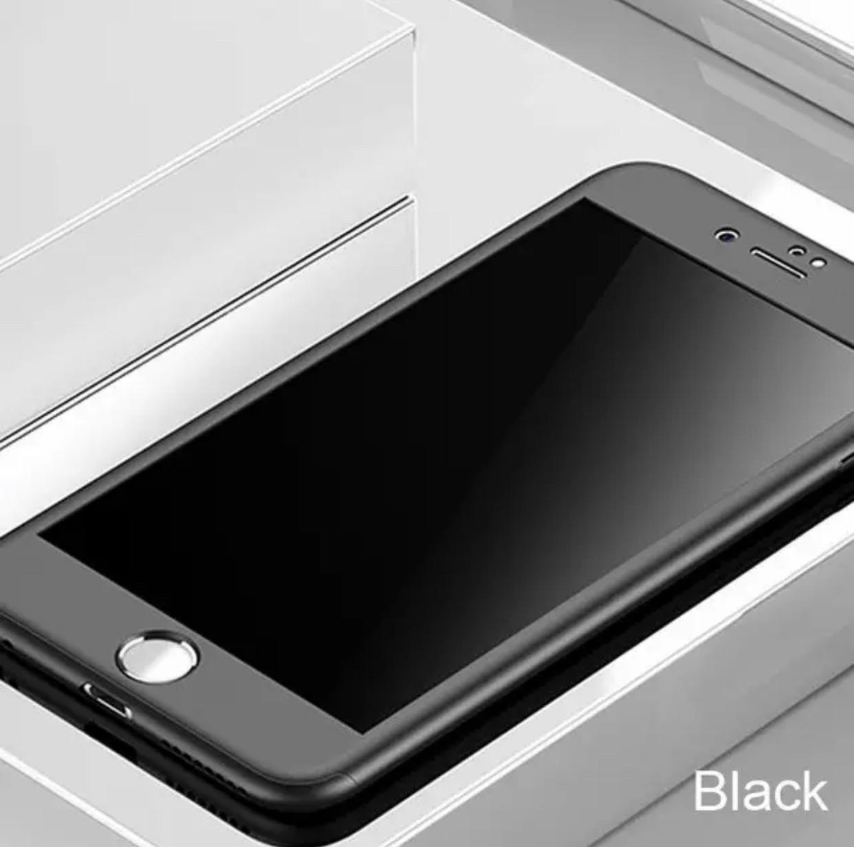 Чехол 360 противоударный для IPhone 6 Plus/6s plus black+ стекло