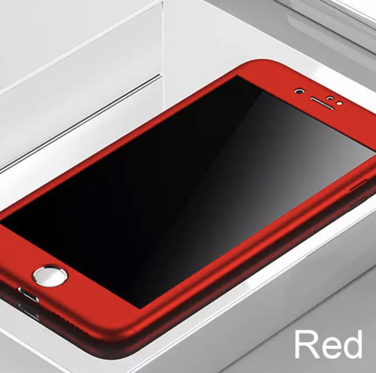 Протиударний чохол для IPhone 7 Plus/8 plus червоний + скло