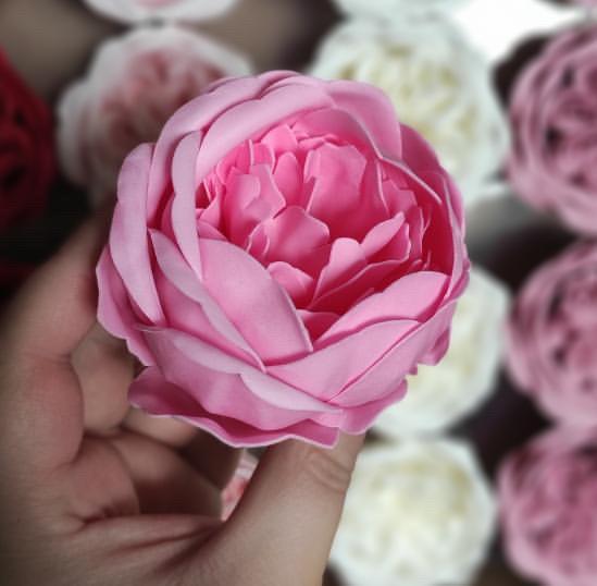 Пион из мыла розовый