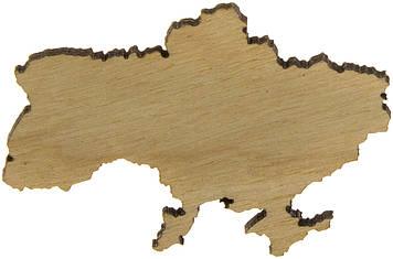 Значок Україна 4х5см фанера