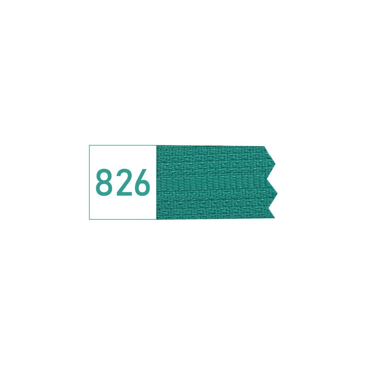 Молния спиральная №3 рулонная S-826 зеленый изумрудный  (рул 100-400м) ZIP