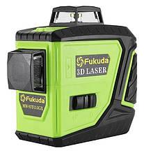 Уровень лазерный Fukuda 3D MW-93T-2-3GX NEW MAX (яркий зеленый луч). Аккумулятор 2600!